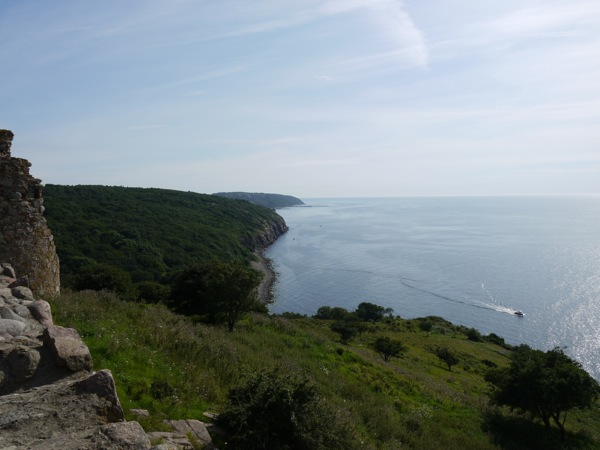 View from Hammerhus castle ruins