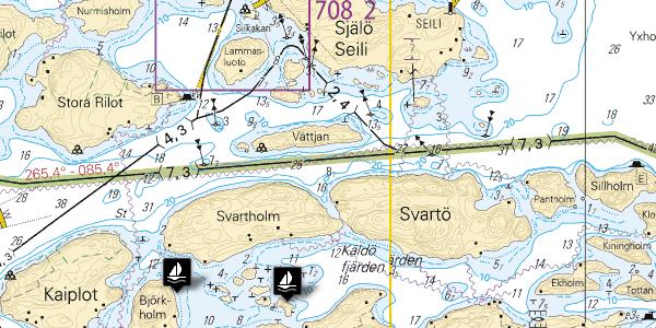 Screenshot of the sailmate.fi service.