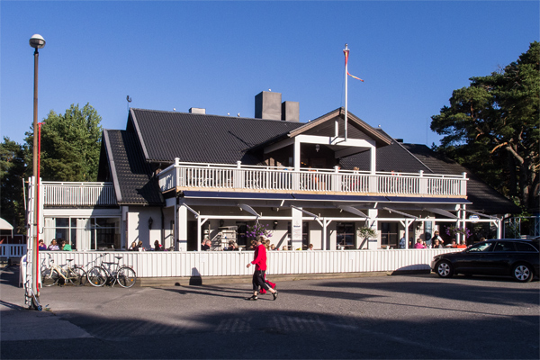 The restaurant is located in the heart of the Nagu Marina.