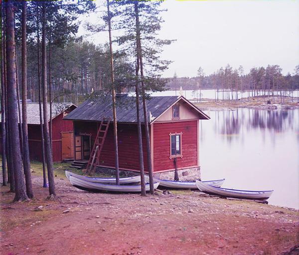 View from Punkaharju on Lake Saimaa by Sergei Prokudin-Gorski (1903)