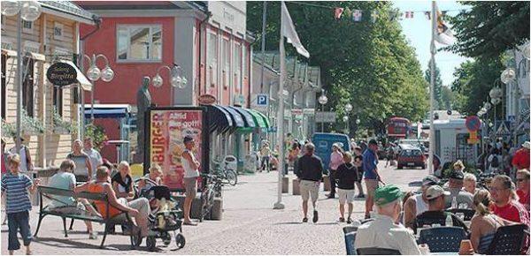 Busy mian street.