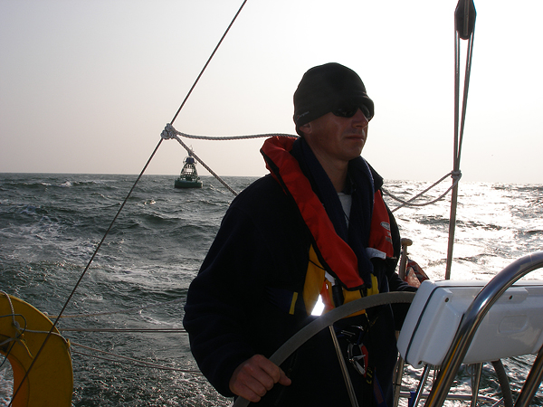 Gred Ward navigating heavy seas and buys in the UK.