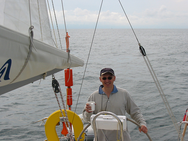 Relaxing sailing with a small following breeze