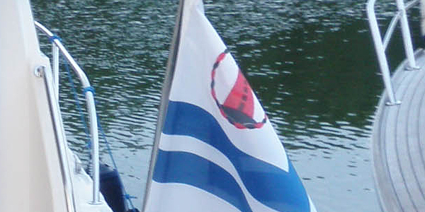 Yacht club flag uniquely identifies the club