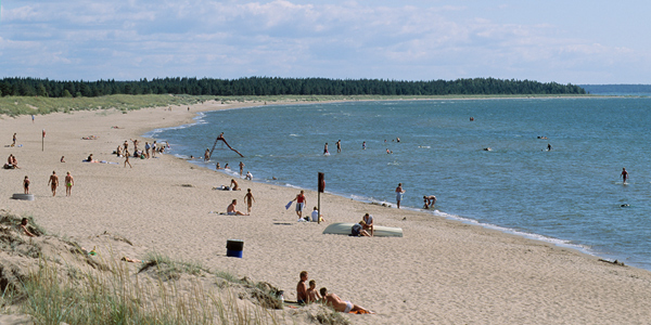 The best beaches in Finland - like Yyteri here - are found along the Sea of Bothnia shores
