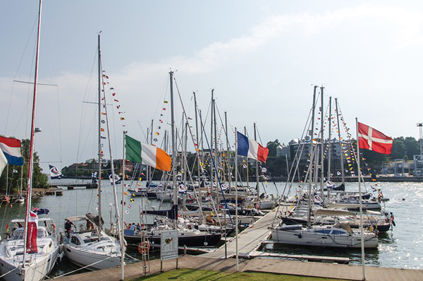 The ARC Baltic fleet was hosted by Nyländska Jaktklubben at their marina in the center of Helsinki.