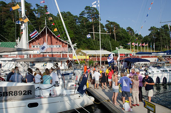 Sailor party on the docks in Mariehamn.