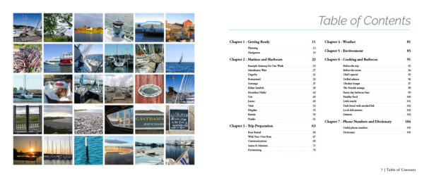 """Sailing in Finland"" guide book sample spread 1"