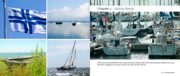 """Sailing in Finland"" guide book sample spread 2"