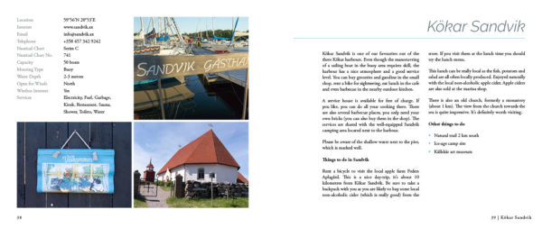 """Sailing in Finland"" guide book sample spread 4"