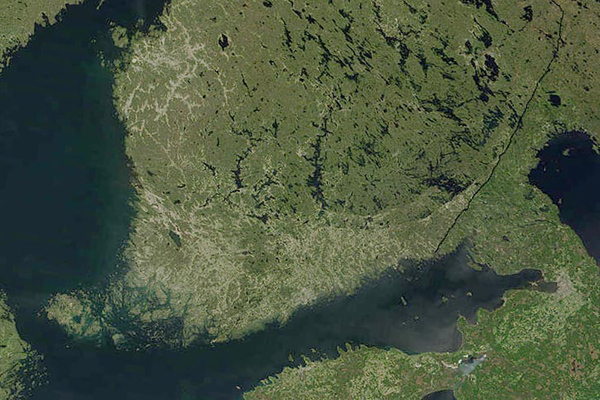 Finland from the sky