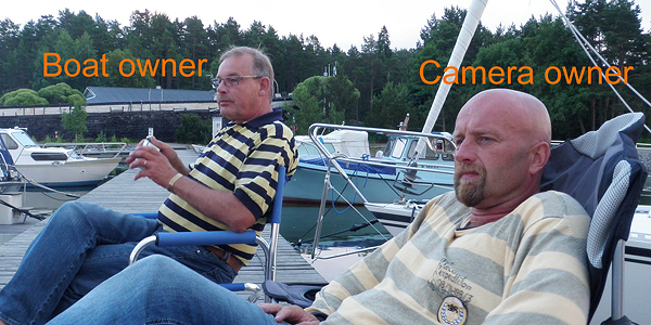 Boat owner and camera owner in same photo