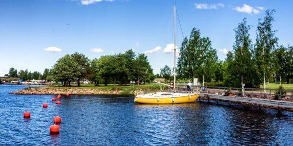 The Hamina marina bay for sailing boats