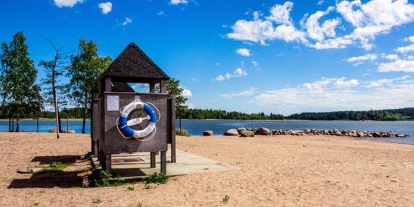 Tervasaari beach