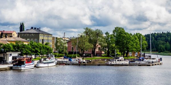 City marina in the center of Porvoo